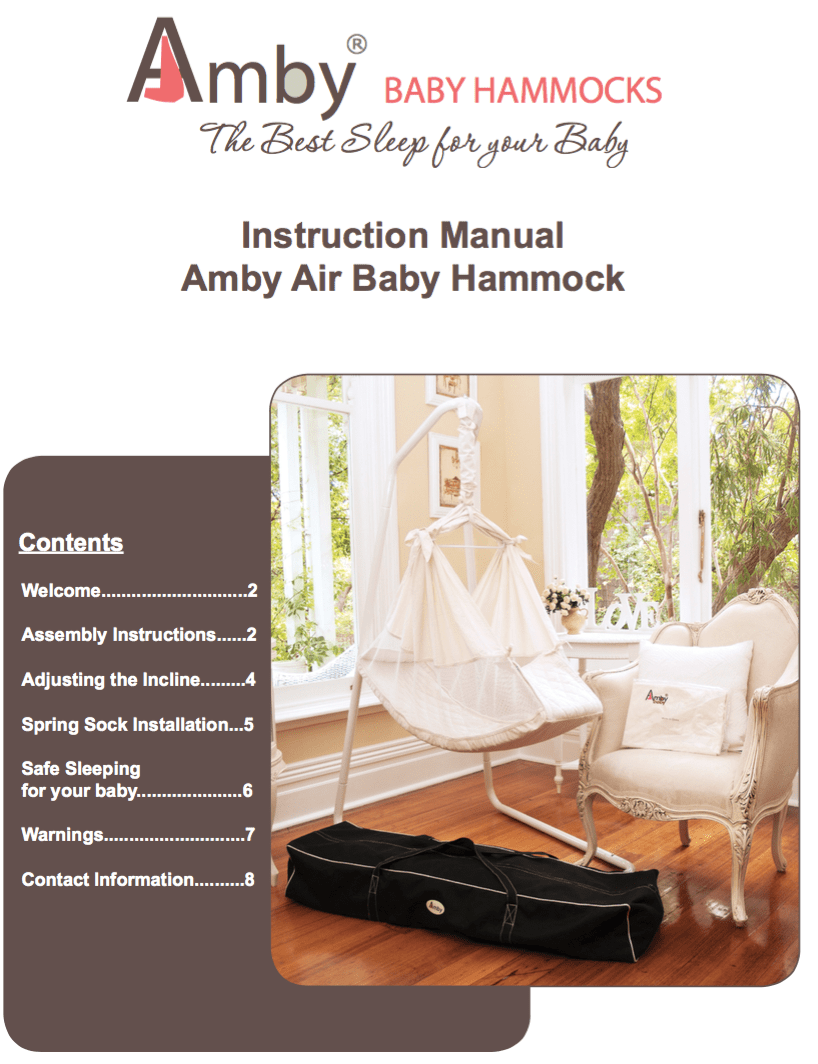 or view the amby baby hammock manual as a pdf  manual  u0026 specs   amby baby hammocks  rh   babyhammocks